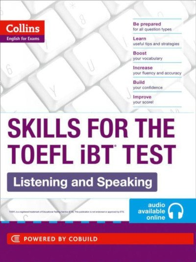 Skills for TOEFL iBT listening and speaking book used at Modulo