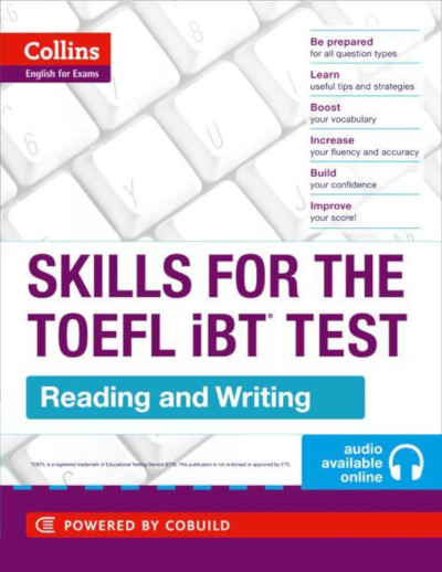 Skills for TOEFL iBT reading and writing book used at Modulo
